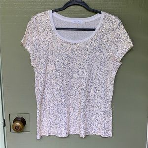 NWOT- CALVIN KLEIN sequin shirt size large